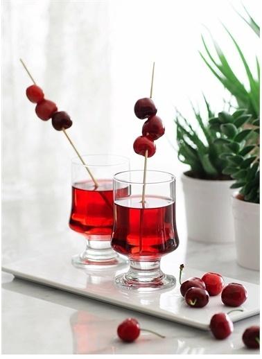 Lav Magnolia Bardağı - 12 Li Su Meşrubat Sunum Bardağı Renkli